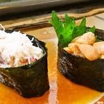 福寿司 - ウニとカニ