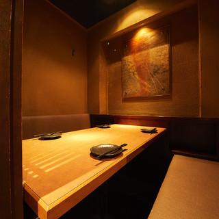 落ち着いた完全個室で、四季折々のお料理をご堪能ください◎