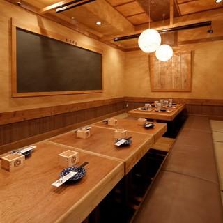 個室は予約がオススメ、掘りごたつ個室やテーブル個室あり