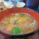 一福亭 - 美味しい味噌汁です