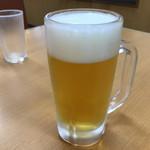 回転すし バリュー - 2019年6月2日  生ビール(麦とホップ用の生ビール)