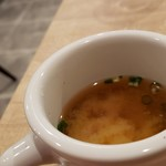 クリエイションダイニング モンテス - 味噌汁です。
