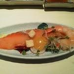 10905992 - 前菜 サーモンと海老のマリネ