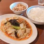 Tenfuen - ◆ホイコウロウ+ミニ麻婆豆腐定食 980円