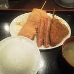 昭和食堂 - ミックスフライ定食