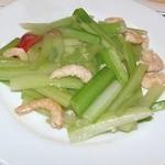 中国料理 家和 - セロリと小エビ炒め