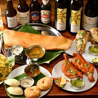 クラフトビールやラッシーなどインド料理と相性抜群なドリンク◎