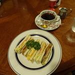 青山コーヒー舎 - 料理写真: あさげサンドイッチセット