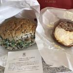 アンティコカフェ アルアビス ハービスプラザエント店 - スピナッチ、ビニエ、(パニーニの家での美味しい食べ方の説明)、