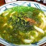 丸亀製麺 - 海苔かけうどんのアップ