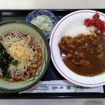 朝日屋 - ミニカレーセット750円