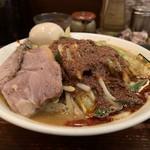 濃菜麺 井の庄 - 辛辛濃菜麺、大盛り、辛さ普通、麺硬め、味濃いめ