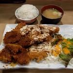 なにわ食堂 - トンカツ&チキンカツミックスランチ(749円)