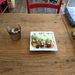 トモズカフェ - ねぎマヨたこ焼き(¥500)