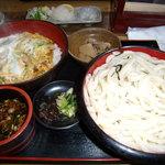 うどんの前田 - カツ丼セットを「ざるウドン」で大
