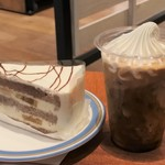 アペティートカフェ - チョコバナナ&アイスカフェラテソフトクリーム乗せ