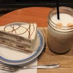 アペティートカフェ - チョコバナナ&アイスカフェラテ