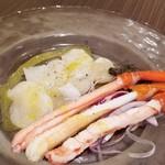 キリンシティ - ホタテと蟹のカルパッチョ、だったな?