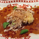 中国料理 仙ノ孫 - 青ハタの香港式葱油かけ特製醤油仕立て