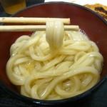 讃岐一番 - 釜玉(麺持ち上げ)