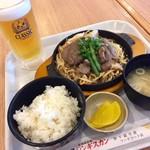 松尾ジンギスカン - マトンジンギスカン定食1,150円