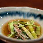 飛騨季節料理 肴 - 2019.6 甘鯛の山菜餡かけ