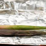 飛騨季節料理 肴 - 2019.6 赤と緑のネマガリタケホイル焼き