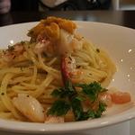 P's レストラン - 北海道産ウニと帆立のアーリオ・オーリオ
