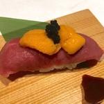 109120238 - 肉巻き寿司 炙り生雲丹