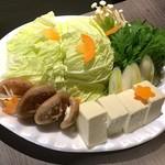 しゃぶしゃぶ 牛芳 - 野菜盛り合わせ