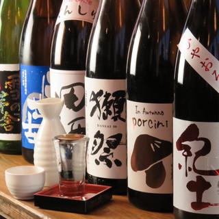 充実の飲み放題は日本酒も、生ビールやスパークリングワインも!