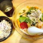 麺屋M - 料理写真:海老とじゃがいもの冷やしそば、冷やしリゾット