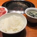 じゅうじゅう亭 - ご飯とスープ