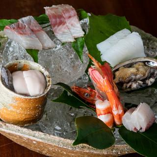 新鮮な魚の旨味そのままに。旨味を最大限引き出した料理の数々