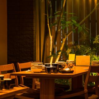 洗練された空間と美味しいお料理でおもてなしいたします