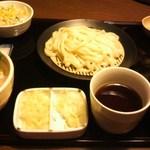 いっさく - ミニ3セット海鮮丼、野菜かき揚げ丼