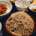 そば一仁 - 料理写真:小海老と野菜のかきあげ天丼セット