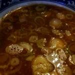 お食事処 南海 - 醤油つけ麺のスープ