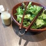 YAKIYAKIさんの家 OMOTESANDO - お代わりのサラダ