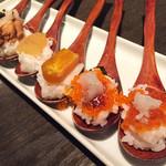 109138800 - ワンスプーン寿司 魚卵盛り合わせ
