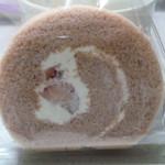 福嶋屋 製菓舗 - ロールケーキいちご味 カットサイズ