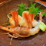 かつ庵 - 赤海老刺身