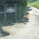 イタリア料理 ラ・フレスカ - こんな山道の上にあります