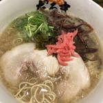 元祖博多だるま - だるま (´∀`)/ ラーメン 紅生姜 麺ミセ