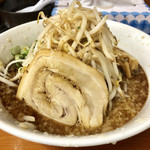 骨太味覚 - 料理写真:黒ラーメン、野菜カチ