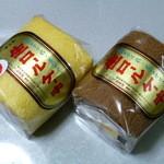 みよし乃製菓舗 - 生ロールケーキハーフサイズ 右がショコラで左が苺です