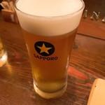 交番通り四十 - 生ビール