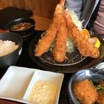 はまーかつ - 海老フライ定食