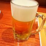 柏 Cafe&Dining ペコリ - ドリンク写真:1杯目の生ビール