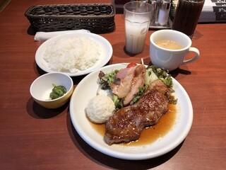 肉の大山 - 【ランチ】大山ステーキ定食 950円(税込)